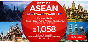 Air Asia Seat Sale August 2016-April 2017