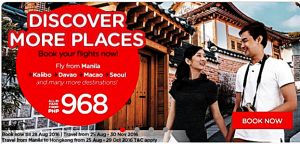 Air Asia as Low as P968 Seat Sale August-November 2016