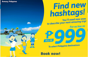 Cebu Pacific Domestic Promo 2016 Starts at P999