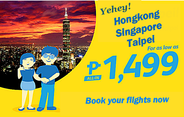 Cebu Pacific Hongkong and Singapore Promo