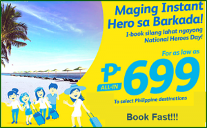 Cebu Pacific P699 Seat Sale January, February, March 2017