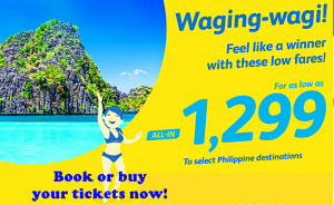 Cebu Pacific September-December 2016 Sale Tickets