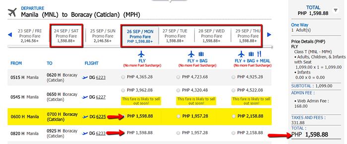 Manila to Boracay Promo Fare