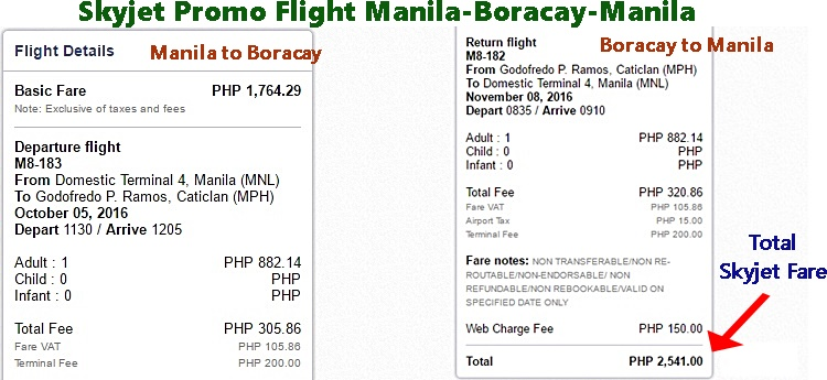 Skyjet Promo Fare Ticket Manila to Boracay