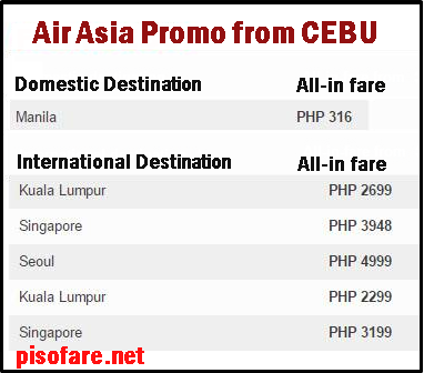 Air_Asia_Promo Flight from Cebu