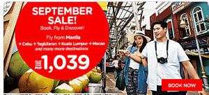 Air Asia Promo Tickets: September 2016-February 2017