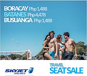 Skyjet BATANES, BORACAY, CORON Seat Sale October 2016-March 2017