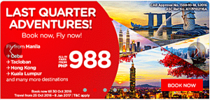 Air Asia October 2016- June 2017 Promo Deals