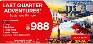 Air Asia October 2016- June 2017 Promo Deals