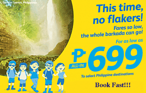 Cebu Pacific as low as P699 Promo June-November 2017