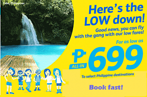 Cebu Pacific November 2016- March 2017 Promo Starts at P699