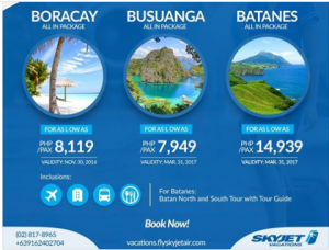 Skyjet ALL IN Package Vacation Special Travel Sale