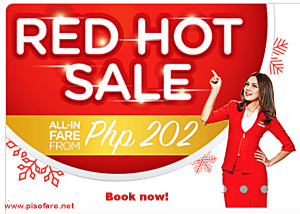 As low as P202 Air Asia Red Hot Sale 2017 to 2018