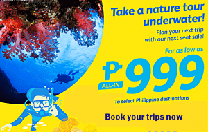 Cebu Pacific Promo Seats: December 2016-March 2017