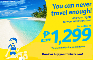Cebu Pacific 2016-2017 Promo Tickets Select Routes