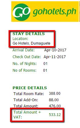 Go Hotel Room Promo