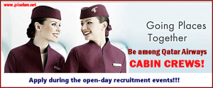 Job Hiring for Qatar Airways Female Cabin Crew: Cebu, Manila, Davao