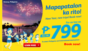Cebu Pacific Promo Deals 2017 as low as P799 and More