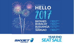 Skyjet Seat Sale 2017 BATANES, BORACAY, CORON, SIARGAO