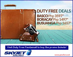 Skyjet BATANES, BORACAY and CORON January-October 2017 Promo Fare
