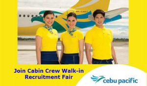 Cebu Pacific Cabin Crew Job Hiring 2017