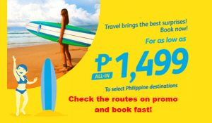 Cebu Pacific Sale Tickets 2017: February-April Trips