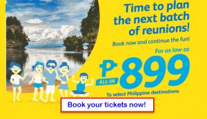 June- August 2017 Cebu Pacific Promo Fare