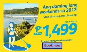 Cebu Pacific February, March, April 2017 Promo Fares
