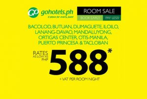 2017 Go Hotel Rooms Sale as Low as P588 Room Per Night Stay