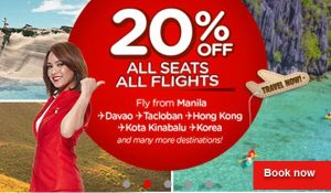 Air Asia 20% Off Seat Sale on All Flights