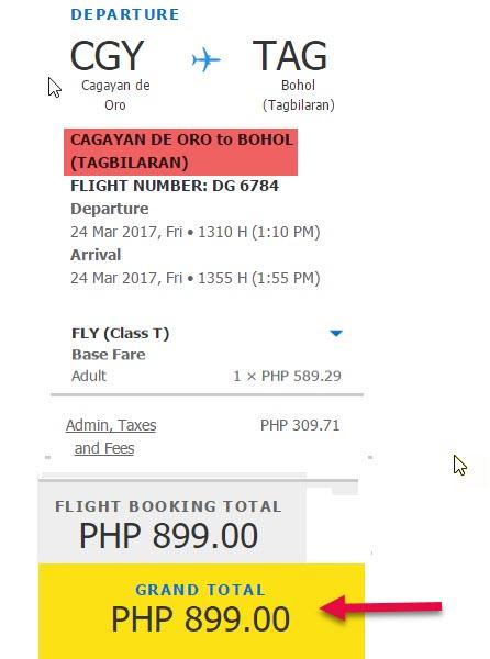 Cagayan-De-Oro-to-Tagbilaran-Seat-Sale-2017