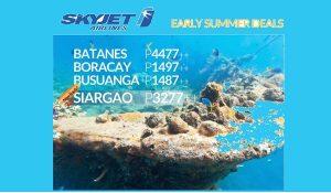 Skyjet 2017 Promo: Batanes, Siargao, Boracay, Coron start at P1,487