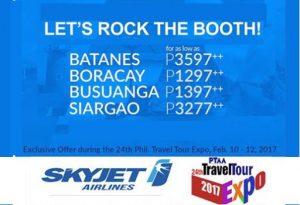 Skyjet BATANES, Boracay, Coron, Siargao Promo 2017 via PTAA EXPO