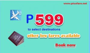 Cebu Pacific Promo Fare Starts at P599: September-December 2017