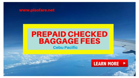 Cebu Pacific Prepaid Baggage Fees 2018: Domestic and ...