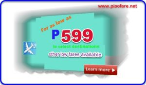 Cebu Pacific Promo as low as P599 July-September 2017
