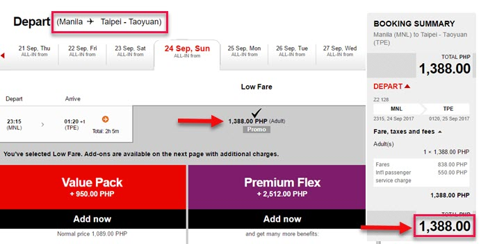 Air-Asia-Seat-Sale-Manila-to-Taipei-September-2017