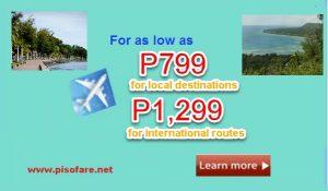 Cebu Pacific Promo May, June, July, August 2017