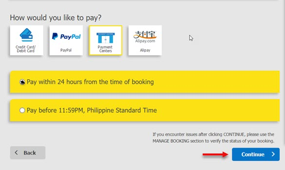 Chosen-Payment-Method-for-Online-Booking