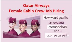 Qatar Airways Female Cabin Crew Job Hiring 2017