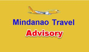 Airline Advisory on Mindanao Flights