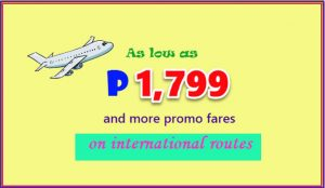 Cebu Pacific P1,799 International Promo, Other Low Fares