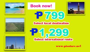 P799 Promo Fares of Cebu Pacific Air and More Sale Tickets