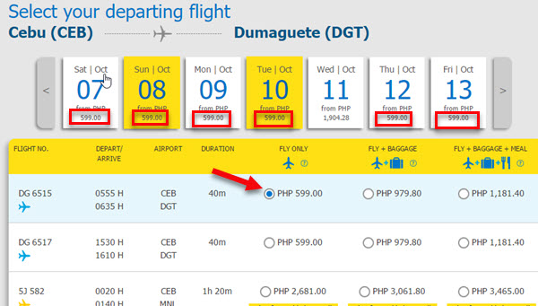 Seat-Sale-Cebu-to-Dumaguete-October-2017