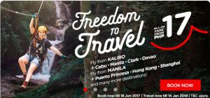 Air Asia Promo Fares June 2017-January 2018 On Sale