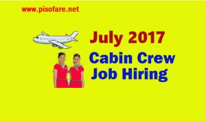 Cabin Crew Job Hiring for July 2017