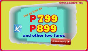 As low as P799 Sale Tickets July-October 2017 Domestic Travel