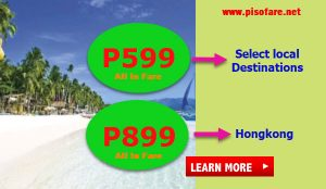 Promo Tickets as low as P599 July, August, September 2017 Trips