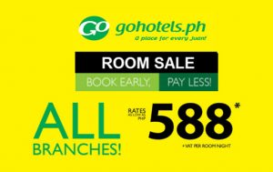 P588+ Hotel Room Sale Per Night Stay by Go Hotel