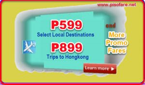 Sale Tickets as low as P599: November 2017-March 2018 Trips
